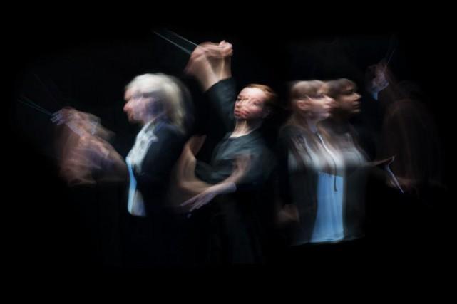 Mélanie Léonard, directrice musicale de l'Orchestre symphonique de... (Photo Olivier Jean, La Presse)