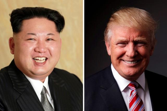 Le dirigeant nord-coréen Kim Jong-Un et le président... (Photos archives Reuters)