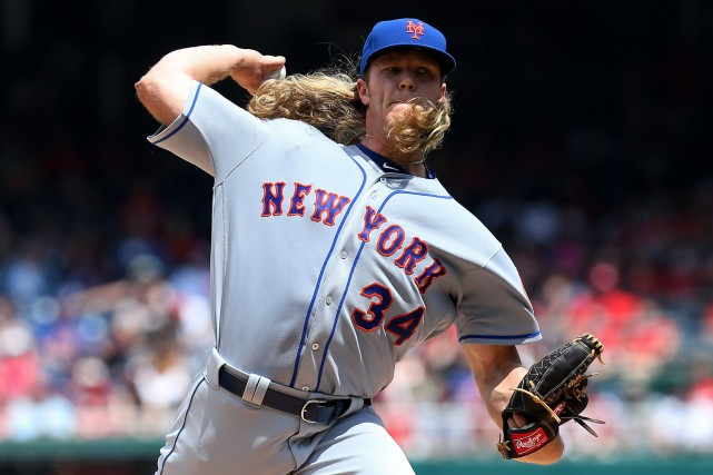L'as lanceur des Mets Noah Syndergaard souffre d'une déchirure... (Photo Geoff Burke, USA Today Sports)