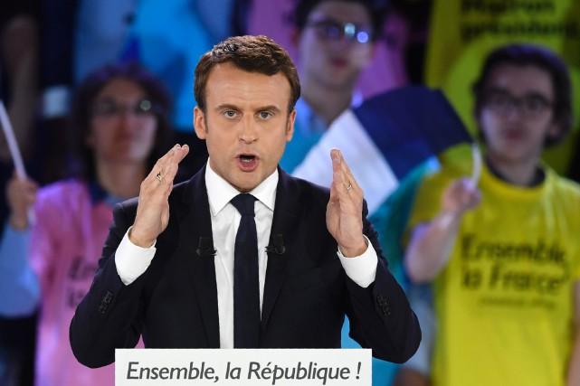 Emmanuel Macron a prononcé un discours à Paris... (Photo Eric Feferberg, AFP)