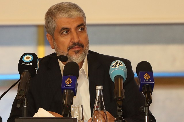Le chef du Hamas, Khaled Mechaal.... (Photo Karim Jaafar, AFP)