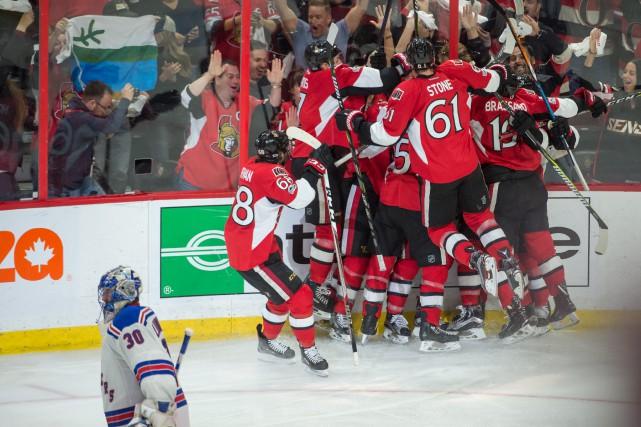 Les Sénateurs d'Ottawa ont creusé l'écart à 2-0... (Photo Dennis DesRosiers, USA Today)