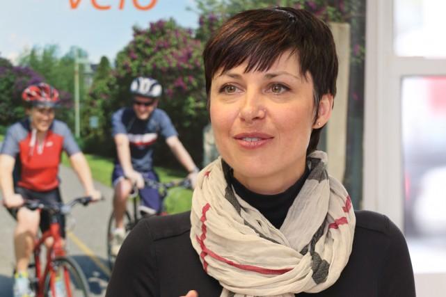 Nancy Morin, commissaire au tourisme pour Commerce et... (Christophe Boisseau-Dion)