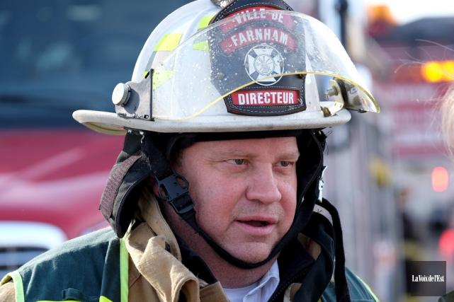 Mario Nareau, directeur du service incendie de Farnham.... (archives La Voix de l'Est)