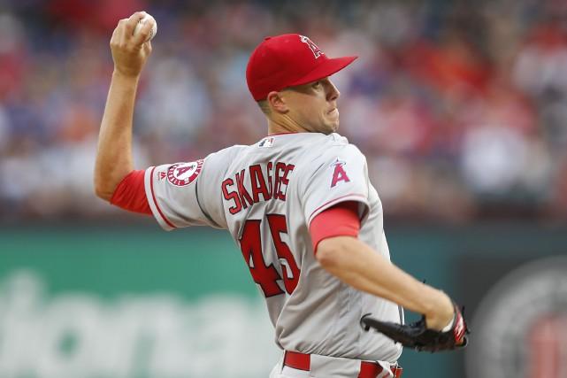 Tyler Skaggs souffre d'uneélongation d'un muscle oblique.... (Photo  Jim Cowsert, USA TODAY Sports)