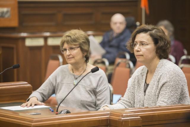 Sylvie Huppé et Nicole Roy ont formulé leurs... (Spectre Média, Marie-Lou Béland)