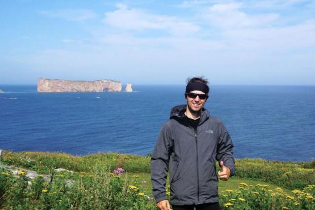 François Bouchard, auteur du Tour de la Gaspésie... (Photo fournie par François Bouchard)