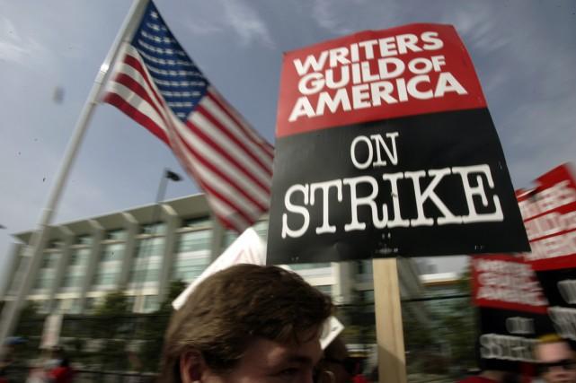 Une entente préliminaire a été conclue mardi entre les scénaristes et les... (PHOTO ARCHIVES AP)