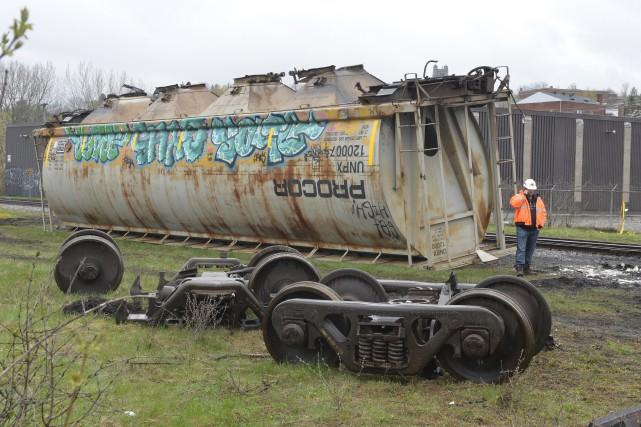 Les wagons ont pu être déplacés.... (Spectre Média, Maxime Picard)