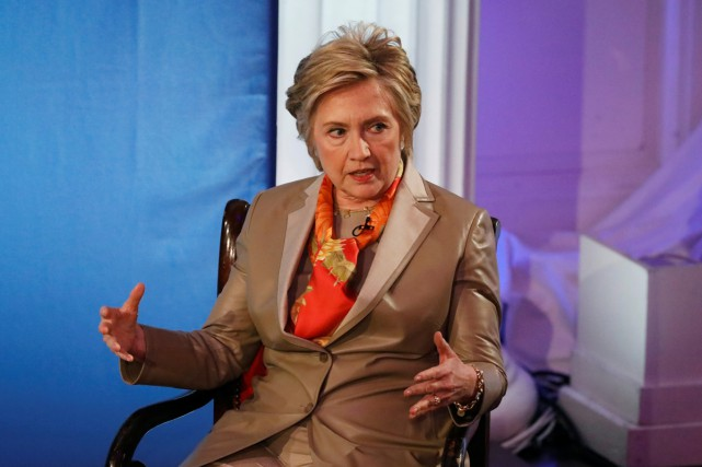L'ancienne candidate à la Maison-Blanche Hillary Clinton était... (PHOTO REUTERS)