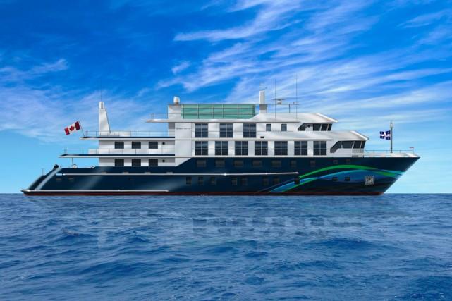 Voilà à quoi ressemblera le navire M/S Jacques-Cartier...