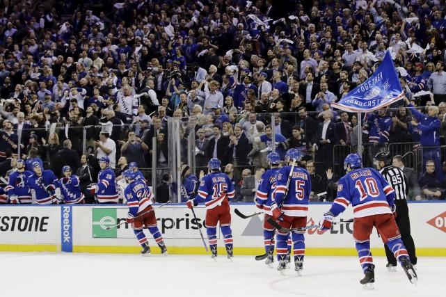 Les Rangers ont connu un gros début de... (Associated Press)