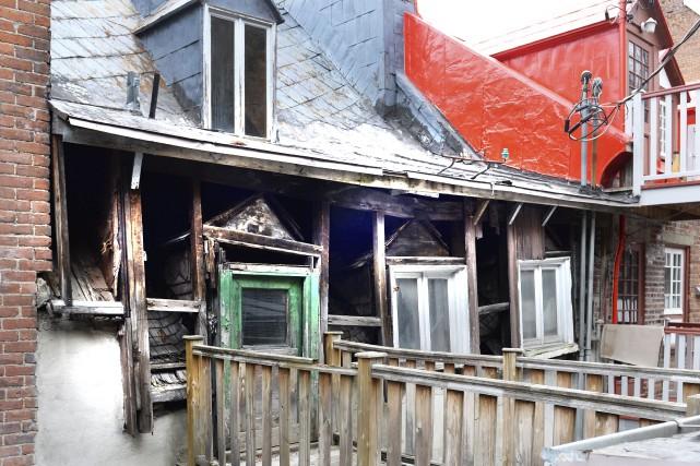 La Maison Tremain-Stuart est source d'inquiétude et de... (Le Soleil, Jean-Marie Villeneuve)