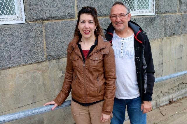 Karine Hémond et Gaétan Pouliot, respectivement chef de... (Audrey Tremblay, Le Nouvelliste)