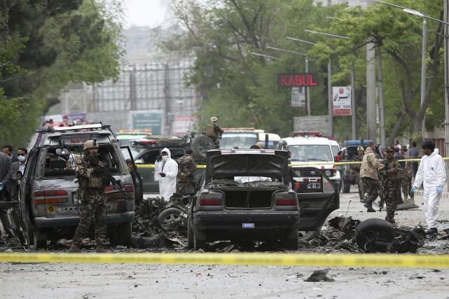 L'explosion, qui s'est produite à l'heure de pointe... (AP)