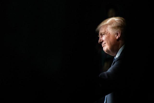 Au moment où le président américain, Donald Trump,... (photoDamon Winter, archives The New York Times)