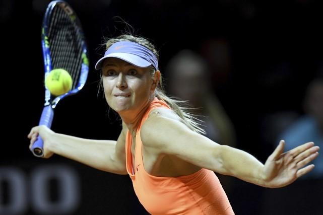 Suspendue 15 mois pour dopage, Maria Sharapovaa fait... (Photo Bernd Weissbrod, AP)