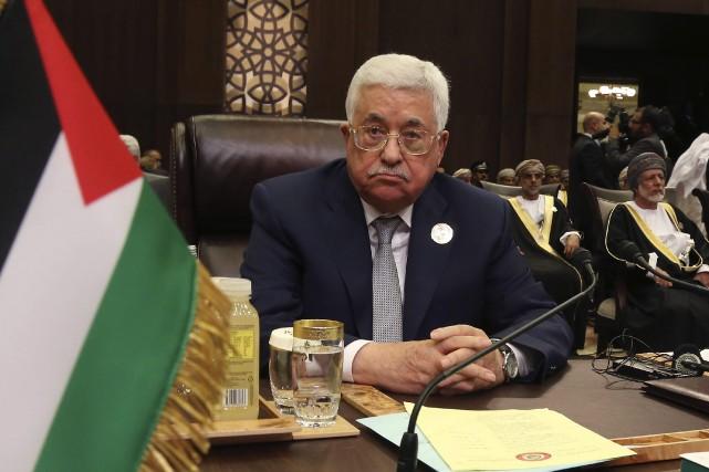 Le président palestinien Mahmoud Abbas.... (AP)
