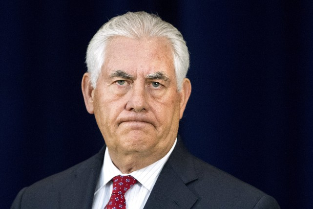 Le secrétaire d'État Rex Tillerson a expliqué que... (AP)