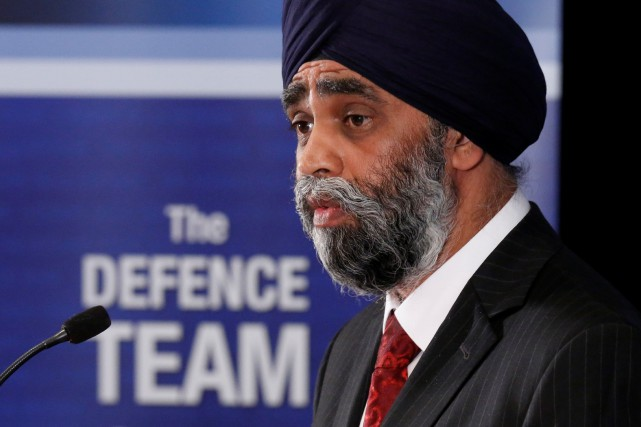 Le ministre de la Défense nationale, Harjit Sajjan.... (Photo Chris Wattie, Reuters)