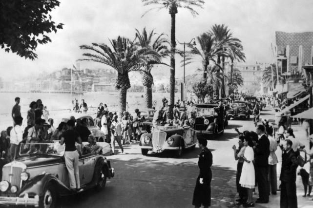 Des vedettes paradent à Cannes le 8 septembre... (AFP)