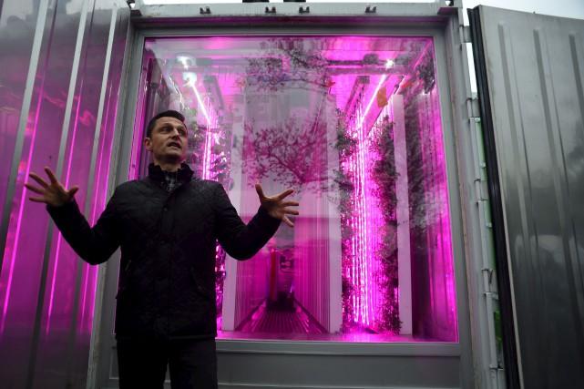 Le Britannique Tobias Peggs, co-fondateur de Square Roots... (AFP, Don Emmert)