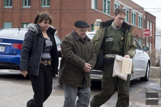 Rock Gélinas lors de son arrestation en avril... (Stéphane Lessard, Le Nouvelliste)
