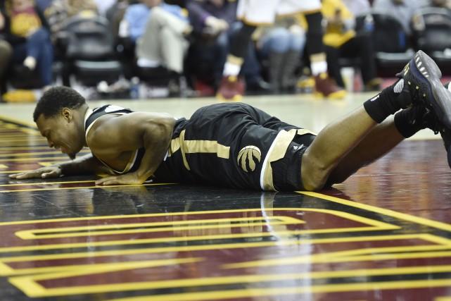 La blessure de Kyle Lowry est survenue en... (Photo David Richard, USA TODAY Sports)