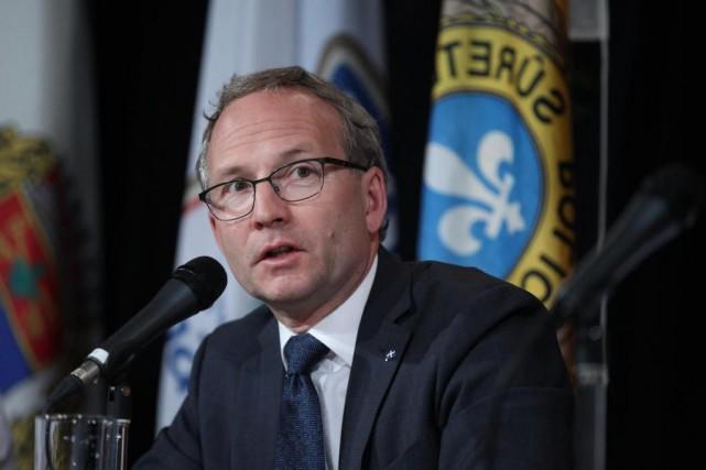 Martin Coiteux, ministre de la Sécurité publique du... (Photo Martin Chamberland, Archives La Presse)