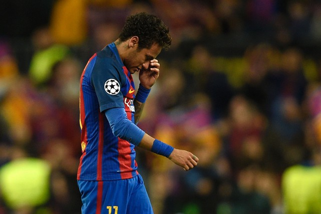 Neymar... (Photo Lluis Gene, AFP)