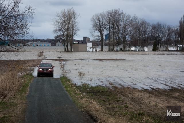 Des inondations à Bécancour.... (François Gervais)