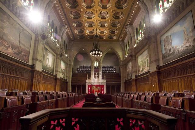 Certains sénateurs, dont le conservateur Don Plett, ont... (PHOTO ARCHIVES LA PRESSE CANADIENNE)