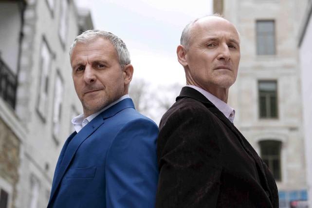 Patrick Huard et Colm Feore... (Le Soleil, Yan Doublet)