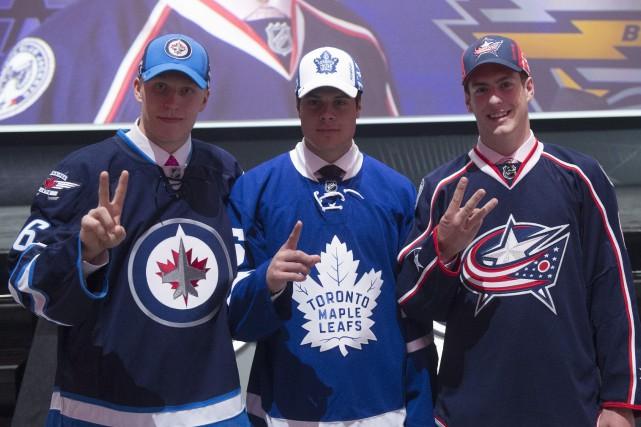 Choisi tout juste après Auston Matthews des Leafs... (Archives La Presse Canadienne, Nathan Denette)