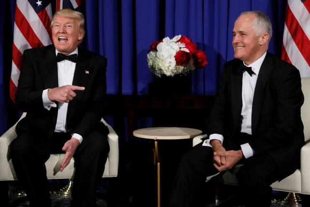 Le président américain Donald Trump et son homologue... (PHOTO Jonathan Ernst, REUTERS)