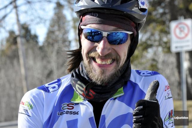 Le grand manitou de l'Ultracyclisme dans la région,... (Le Quotidien, Rocket Lavoie)