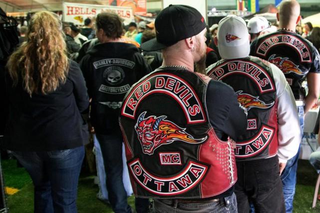 Les Red Devils sont un club de motards... (Photo Robert Skinner, Archives La Presse)