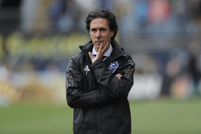L'entraîneur-chef de l'Impact Mauro Biello a admis qu'il... (Photo Michael Perez, archives AP)