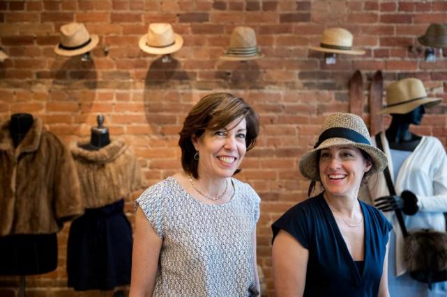 Diane Lanctôt et Mariouche Gagné... (Photo Marco Campanozzi, La Presse)