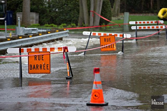 L'île Verte, à Laval, avait été touchée par... (PHOTO PATRICK SANFAÇON, ARCHIVES LA PRESSE)