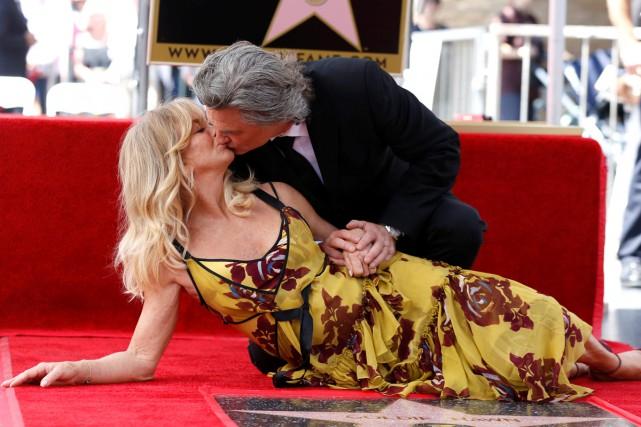 Les acteurs Kurt Russell et Goldie Hawn, en couple dans la vie, ont tous deux... (PHOTO REUTERS)