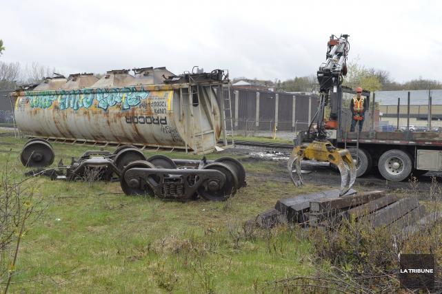 ÉDITORIAL / Le déraillement de deux wagons de marchandises de la compagnie... (Archives, La Tribune)