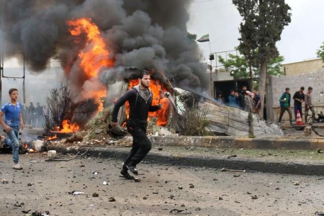 La guerre en Syrie a fait plus de... (photo Zein Al RIFAI, AFP)