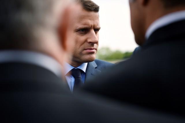 Le candidat à la présidentielle française, Emmanuel Macron.... (Photo Lionel BONAVENTURE, AFP)