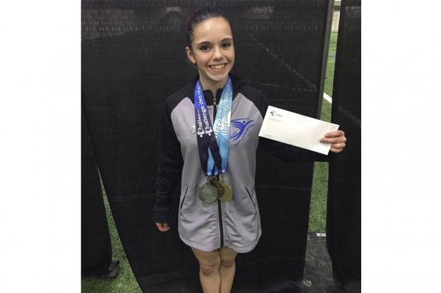 La gymnaste Jade Roy... (fournie)