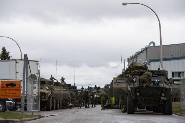 Tous les escadrons d'intervention immédiate de Valcartier seront... (Photo fournie par Sgt Marc-André Gaudreault, Service d'imagerie Valcartier)