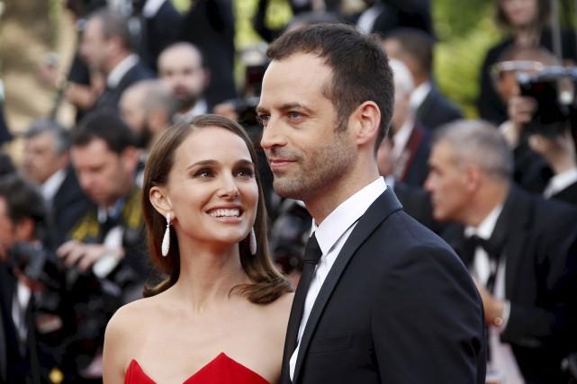 Benjamin Millepied en compagnie de sa femme, l'actrice... (Archives AFP, Valéry Haché)