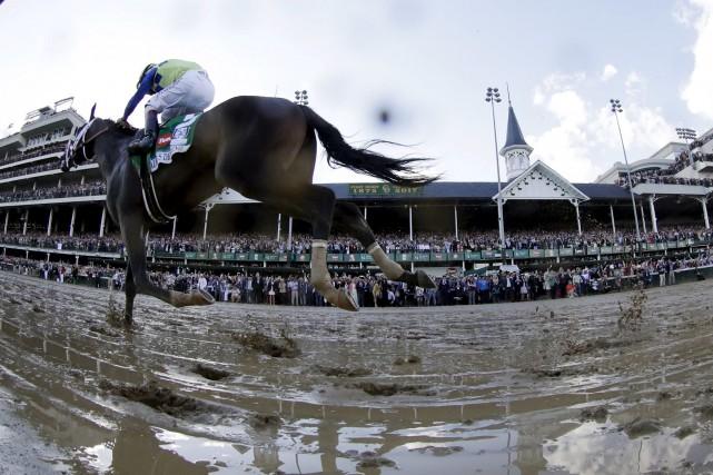 John Velazquez et son cheval Always Dreaming ont... (AP, Matt Slocum)