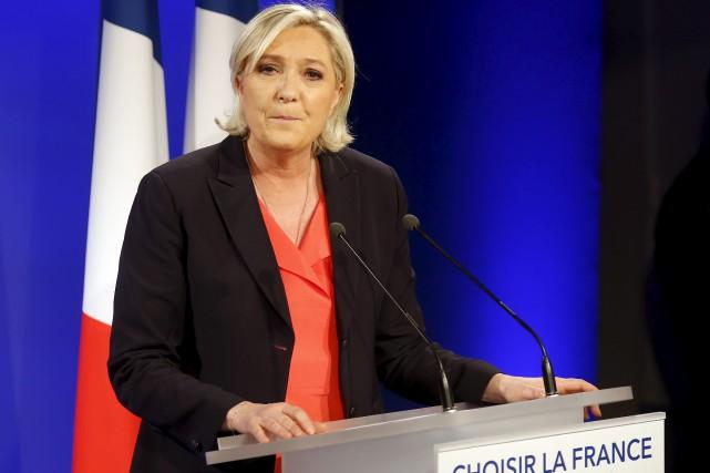 Marine Le Pen a annoncé jeudi soir qu'elle... (Archives AP)