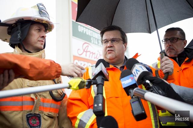 Le maire de Montréal, Denis Coderre,s'est défendu de... (PHOTO SARAH MONGEAU-BIRKETT, LA PRESSE)